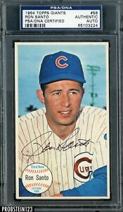 1964 Topps Giants #58 Ron Santo HOF Signed AUTO Chicago Cubs PSA/DNA