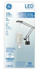 GE LED Desk Lamp Light Bulb Warm White 10W Replacement 1W T3 G4 Base 90 Lumens