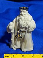 Lenox Porcelain Xmas Figure Santa Claus Nativity Doll Statue Scene Staff VTG