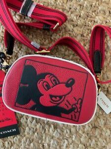 Coach Disney Mickey Mouse x Keith Haring Badge Camera Bag *NWT*