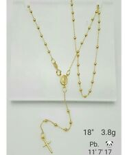 Gold Authentic 18k gold rosary necklace,,