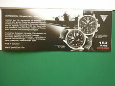 2010 PUB MONTRE WATCH FLIEGERUHREN HUGO JUNKERS UHREN JU-52 / STOWA GERMAN AD