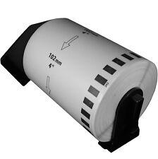 (10 Rolls) DK-2243 Brother Compatible Labels. Premium Permanent Core. DK2243