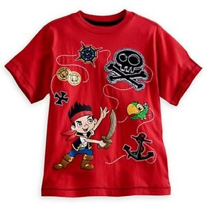 NWT Disney Store Jake and The Never Land Pirates Deluxe Storytelling Tees Boys