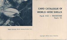SALLY KAICHER CARD PACKS Pack #22 TROCHIDAE part II