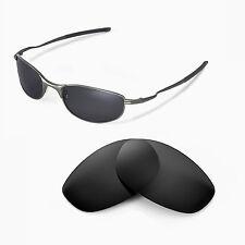 Walleva Polarized Black Replacement Lenses For Oakley Tightrope Sunglasses