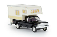 Brekina 19832 Jeep Gladiator B Camper, Black, Car Model 1:87 (H0)