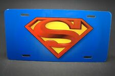 SUPERMAN LOGO LICENSE PLATE FOR CARS TRUCKS AND SUVS METAL ALUMINUM