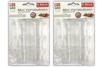 12 Stück Mini Vorratsdosen aus Kunststoff | Aufbewahrungsdosen Frischhaltedosen