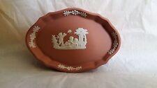 Rare Wedgwood terracotta jasper ware oval pin dish (b)