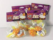 4 Halloween Cake Mate Cupcake Stix 12 Count Bags Pumpkin Ghost 48 pieces total