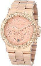 Michael Kors MK5412 Rose Gold Tone Baguette Bezel Dylan Chronograph Wrist Watch