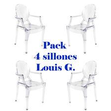 Pack 4 sillas transparentes estilo Louis Ghost ideales para salón/comedor