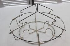 "Rustic White 12"" Vintage Metal Wire Canning Rack  6 jars Canner Pressure cooker"