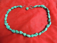 Nice Vintage Turquoise 1 Strand Necklace Choker