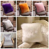 Fluffy Faux Fur Plush Throw Pillow Case Shaggy Soft Chair Sofa Cushion Cover