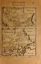 DACIA, THRACE.  Grabado original ,Maneson Mallet,Paris 1686.