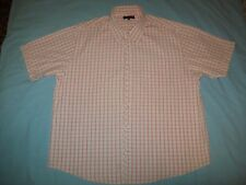 Kickers Red Pink & White Check Short Sleeved Cotton Shirt size XL