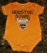 """NEW"" Houston Dynamo Soccer Club ~ LOGO Creeper BODYSUIT ~ MLS Boy's Sz 3M 6M"