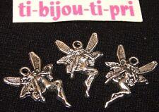 LOT de 8 PENDENTIFS ARGENTE perles breloques ELFES FEES FAIRY création bijoux
