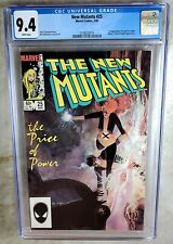 New Mutants #25 1st Cameo Legion Marvel 1985 CGC 9.4 NM White Pages Comic J0074
