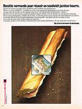 PUBLICITE ADVERTISING 074  1973  ELLE & VIRE   beurre  recette Normande