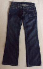 "BANANA REPUBLIC Womens Sz 0 Petite 27X28.5"" Low Rise Bootcut Denim Blue Jeans"