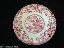 "Rare Myott Staffordshire England China RED Indiana - 6-1/4"" BREAD PLATE"