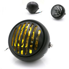 "5.75"" Retro Vintage Motorcycle LED Headlight Grill Side Mount Cover for Harley"