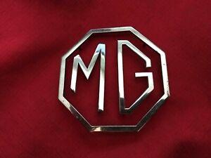 Original Chrome MG 3 Piece Trunk Badge BS1004 used