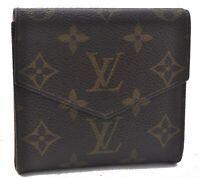 Auth Louis Vuitton Monogram Porte Monnaie Billets Wallet M61660 LV A8428
