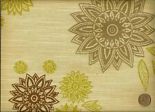 Momentum Impromptu Whisper Modern Retro Floral Cream Upholstery Fabric