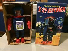 2014 Tin Metal FRICTION POWER Robot Toy X-27 EXPLORER MS398 LARGE Toy MIB