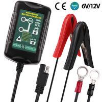 6V/12V 1.5Amp Smart Motorcycle Ebike Car Battery Charger for Lead Acid Batteries