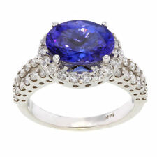 Handmade Tanzanite Solitaire with Accents Fine Rings