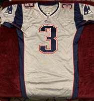 2003 NFL Team Issued New England Patriots Silver Jersey Size 46 Rare Reebok