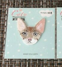 "1 1/2"" Cat Sphynx Bald Cornish Rex Embroidery Iron On Applique Patch kitty"