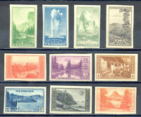 US Stamp (L1741) Scott# 756-765, Mint NH, WITH GUM, Imperf National Park, CV$136