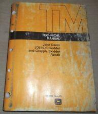 John Deere Jd540b 540b Skidder Technical Service Shop Repair Manual Book Tm1139