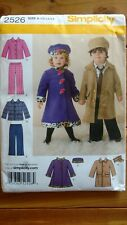 Boy & Girls Coat, Hat, Pants Sewing Pattern Simplicity 2526 sizes 1-4