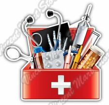 Doctor Tool Box Medical Equipment Aid Kit Car Bumper Vinyl Sticker Decal 4.6""