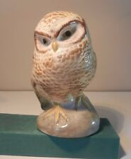 LARGE EARLY DEVON BABBACOMBE  STUDIO POTTERY  OWL FIGURINE