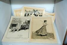 7 Antique 1906 Charles Gibson Seven Ages Woman Lithographs Chicago American Art