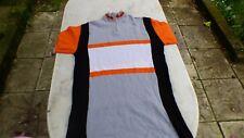 maillot de vélo vintage Kopa noir blanc gris orange T 4