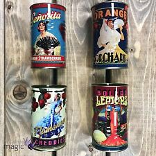 Temerity Jones Set 4 Mini Storage Decorative Retro Style Vintage Fruit Tin Cans