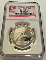 Canada 2015 Adventure Canada Ice Climbing $10 Encapsulated Silver Coin NGC PF69