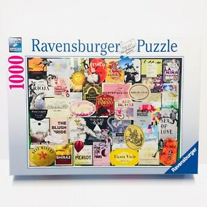 Ravensburger 1000 Piece Jigsaw Puzzle Wine Labels Bright Colorful New Ships Free