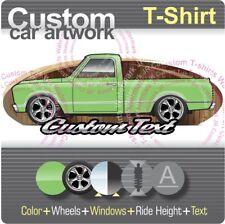 Custom T-shirt 67 1968 68 GMC Chevy C-10 Cheyenne C/K Short bed Pickup Truck V8