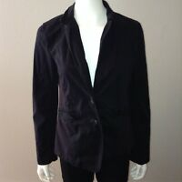 Calvin Klein Blazer Size M Medium Womens Black Button Up Jacket Long Sleeve