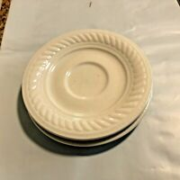 Gibson White Rope Braid Saucers set of 2